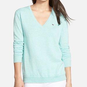 Vineyard Vines • Light Blue Cotton V-Neck Sweater